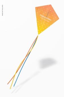 Makieta latającego latawca w kształcie diamentu, pływający