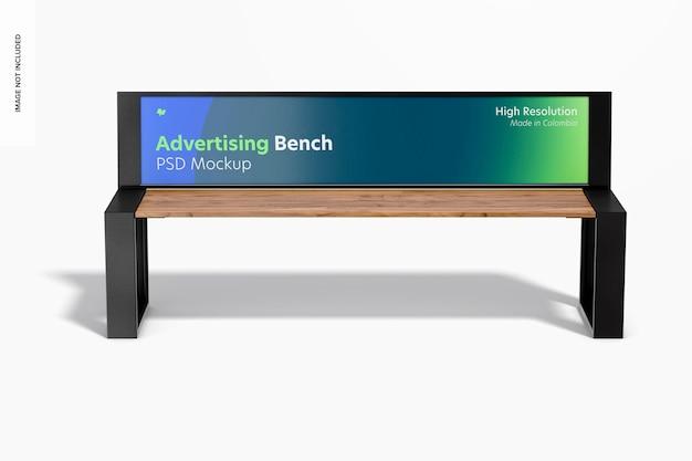 Makieta ławki reklamowej, widok z przodu