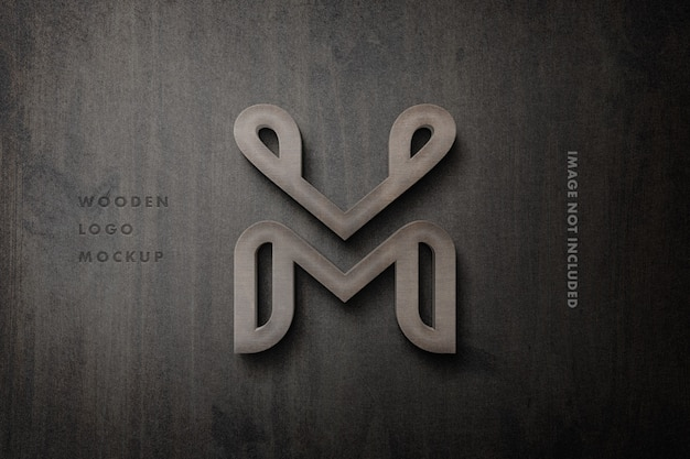 Makieta logo 3d drewniany znak