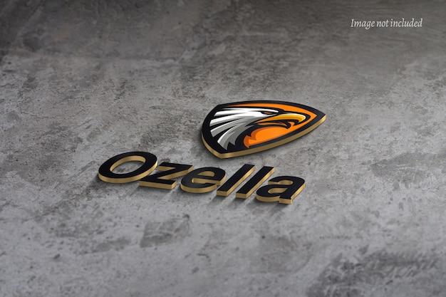 Makieta logo 3d