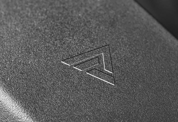 Makieta logo czarne plastikowe tekstury