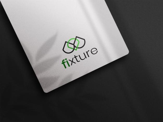 Makieta logo druki białej papieru
