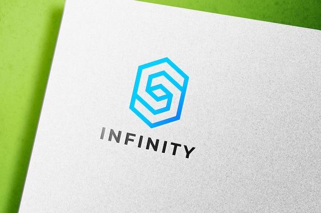 Makieta logo druki typograficznej