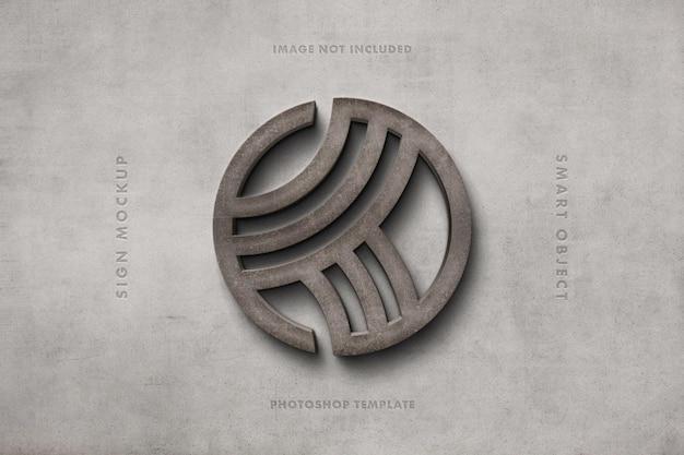 Makieta logo kamiennego znaku