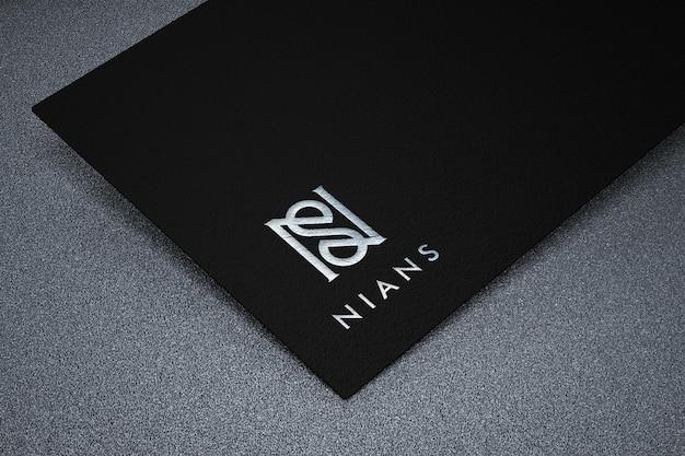 Makieta logo luksusowego i nowoczesnego biznesu