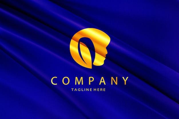 Makieta logo luksusowego piękna