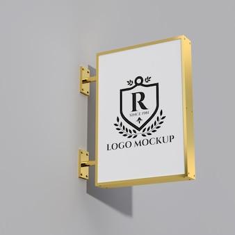 Makieta logo metalowej szyldu