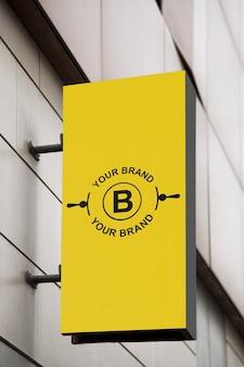 Makieta logo na elewacji lub w sklepie