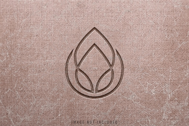 Makieta logo na konkretne tekstury