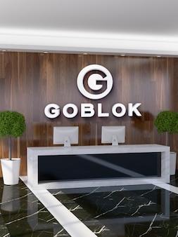 Makieta logo na ścianie 3d