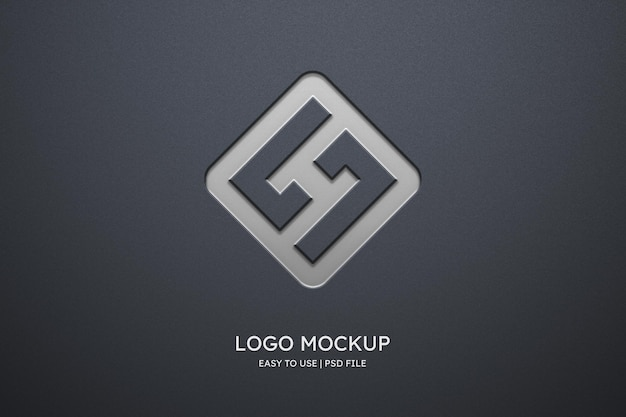 Makieta logo na szarej ścianie
