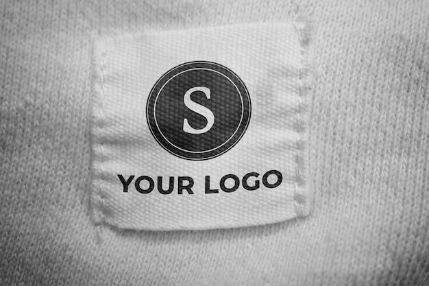 Makieta logo na tkaninie