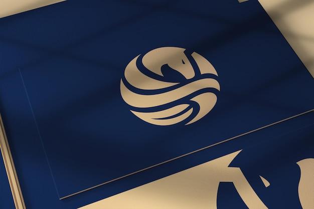 Makieta logo na wizytówce