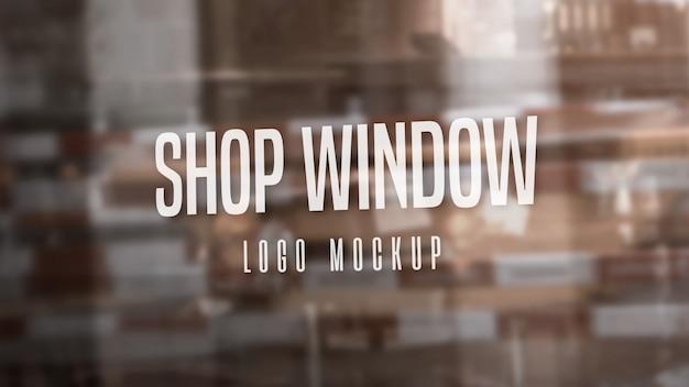 Makieta logo okna wystawowego