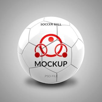 Makieta logo piłki nożnej na białym tle