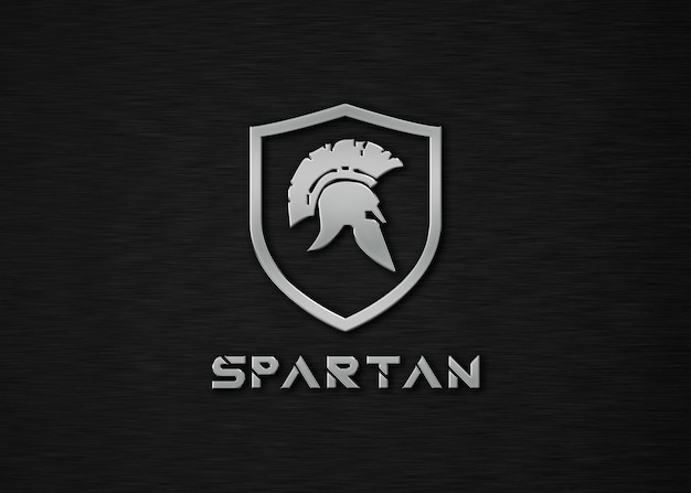 Makieta logo spartan metal