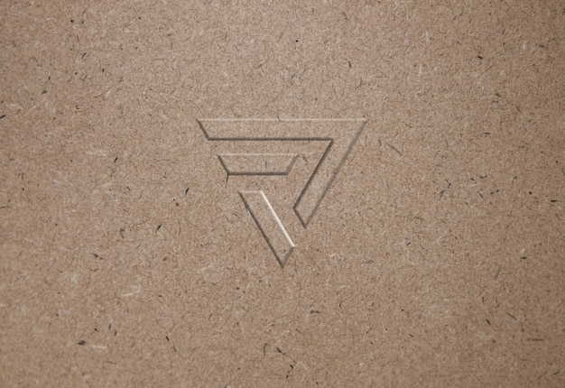 Makieta logo tekstury papieru makulaturowego