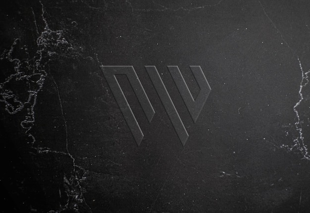 Makieta logo tłoczone tekstury marmuru