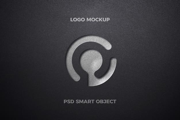 Makieta logo tłoczonego na grubym papierze