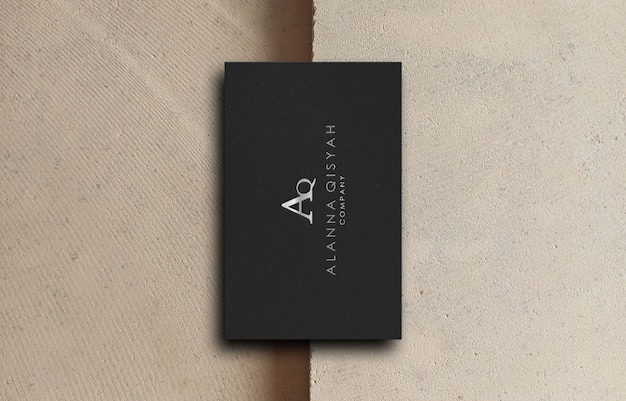 Makieta logo wizytówki 3d dla firmy biznesowej