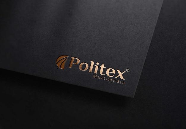Makieta logo z czarnego papieru