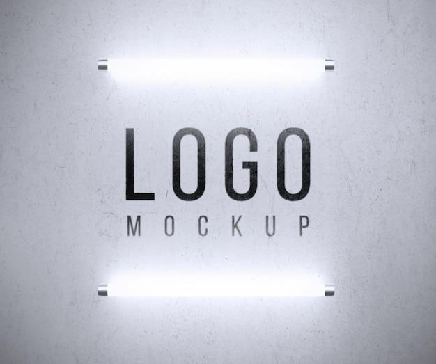 Makieta logo ze światłami