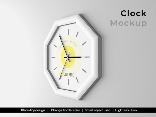 Makieta logo zegara sześciokątnego