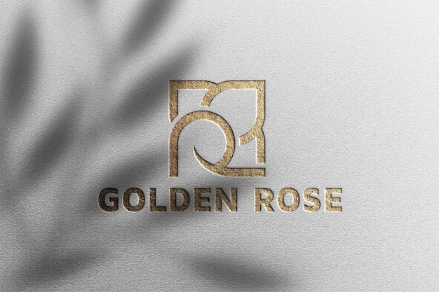Makieta luksusowego logo na białym papierze