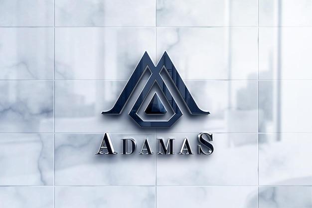 Makieta luksusowego logo na marmurze
