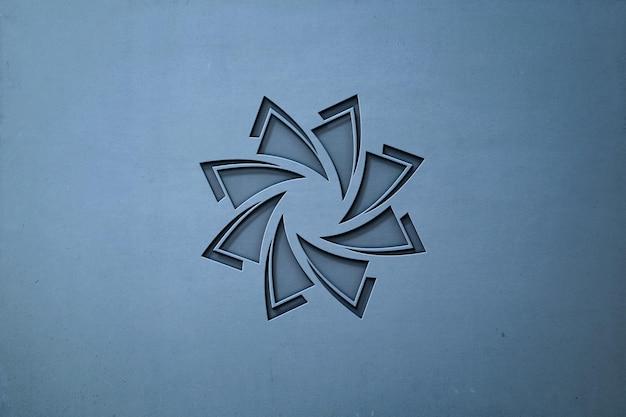 Makieta luksusowego logo w ścianie