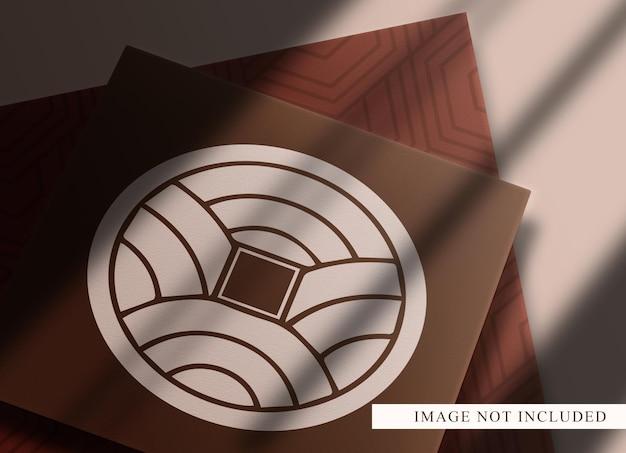 Makieta luksusowych czystych papierów