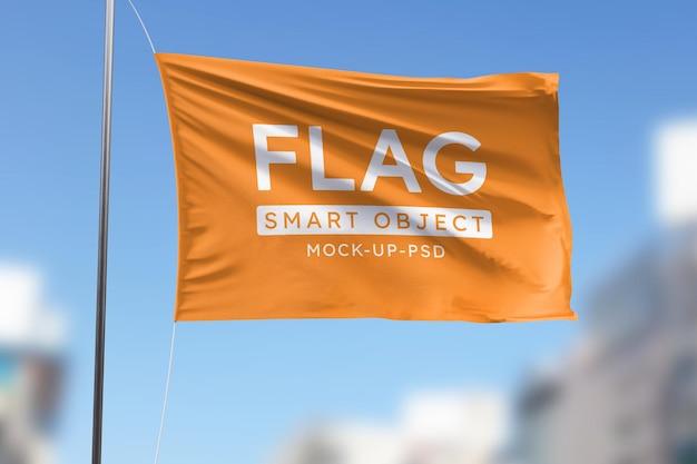 Makieta machająca flaga