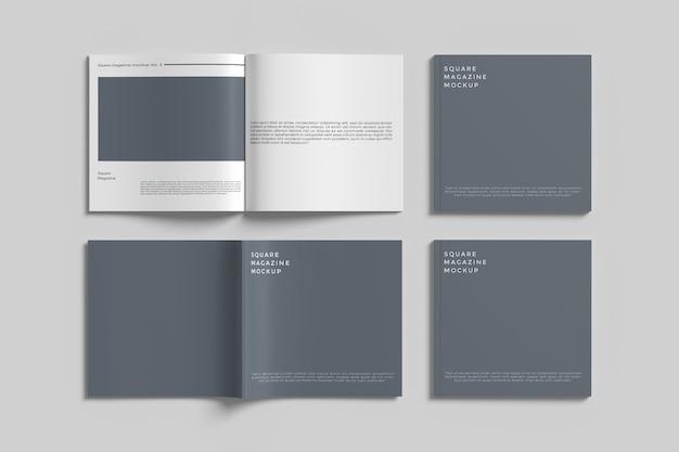 Makieta magazynu kwadratowego na białym tle z widokiem z góry anioła