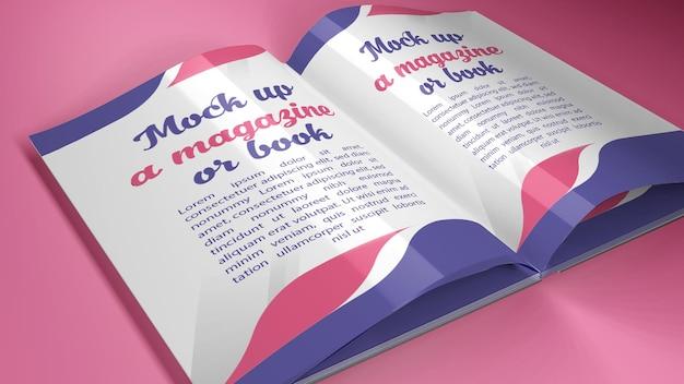 Makieta magazynu lub książki w formacie a4 w różnych pozycjach oprócz cienia
