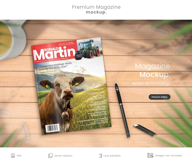 Makieta magazynu premium projektu okładki magazynu