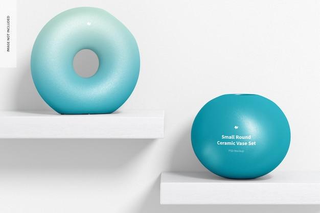 Makieta małego okrągłego ceramicznego wazonu, widok z przodu