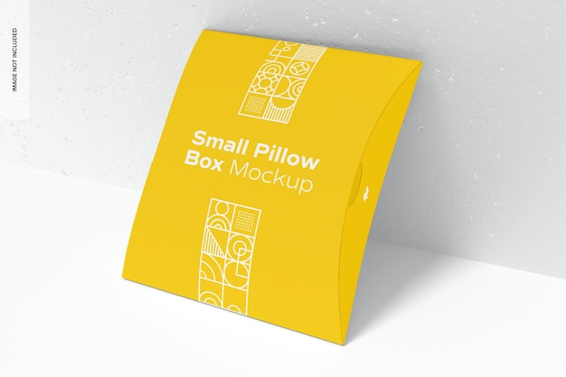 Makieta małego pudełka na poduszkę