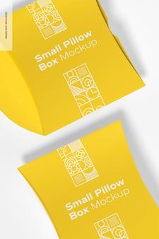 Makieta małych pudełek na poduszki, widok z góry