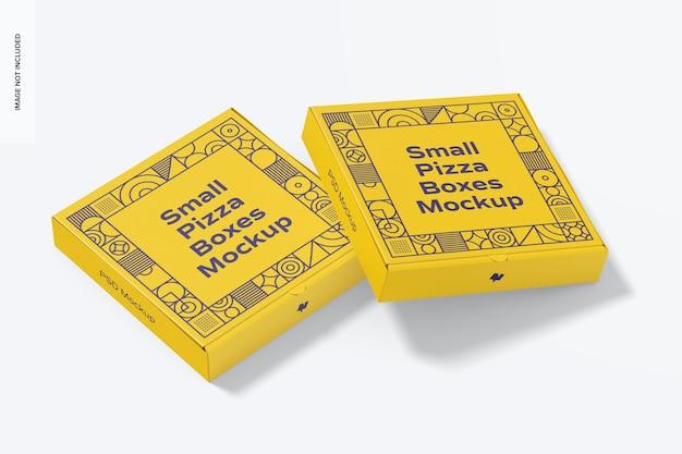 Makieta małych pudełek po pizzy, zamknięte
