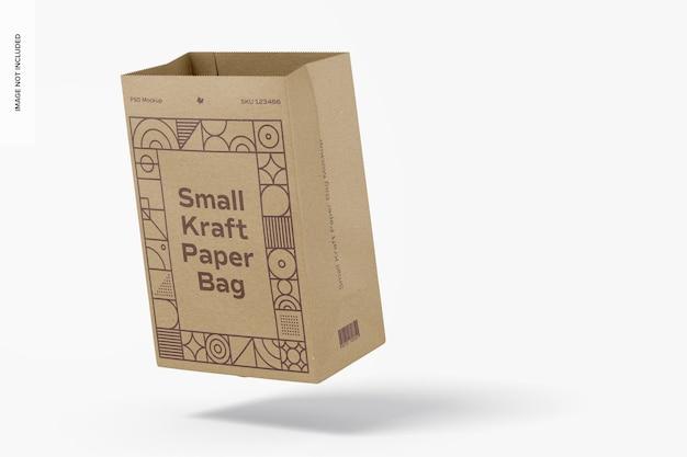 Makieta małych toreb papierowych kraft