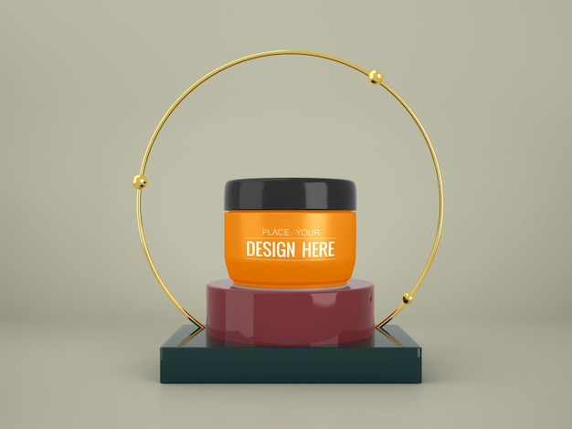 Makieta marki kosmetyków. pakiet do brandingu i tożsamości. gotowy do twojego projektu