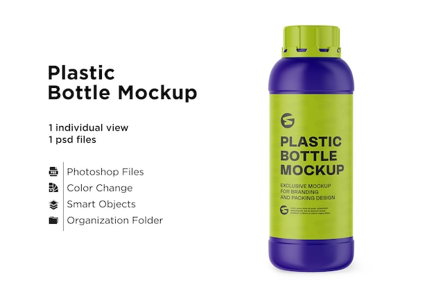 Makieta matowej plastikowej butelki