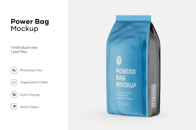 Makieta matowej torby na żywność