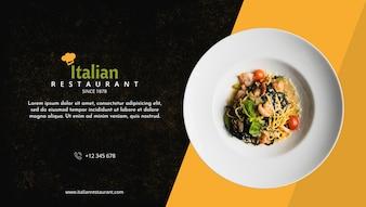 Makieta menu włoskiej restauracji