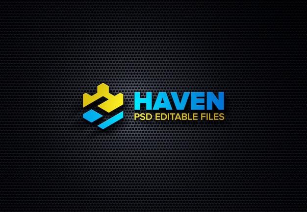 Makieta metalowa realistyczne logo