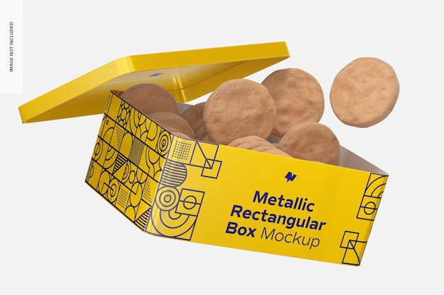 Makieta metalowego pudełka prostokątnego, spada