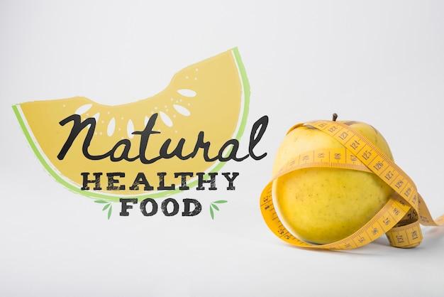 Makieta miejsce z koncepcją zdrowej żywności