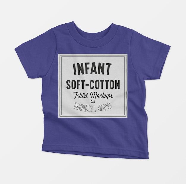 Makieta miękkich bawełnianych t-shirtów dla niemowląt