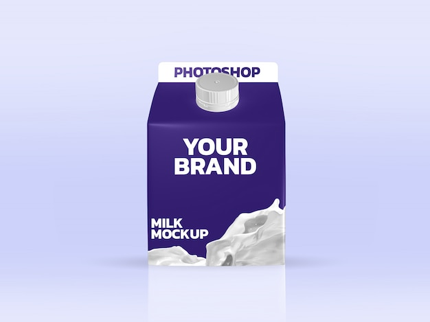 Makieta mleka pole renderowania 3d realistyczne