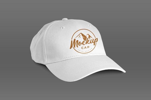 Makieta na białym tle białej czapki